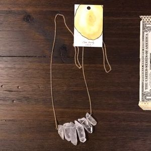 Anthropologie NWT clear quartz necklace